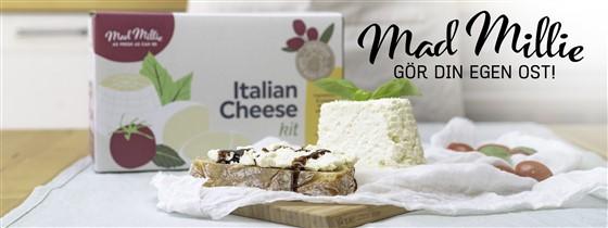 Hemgjord ost från ost kitt